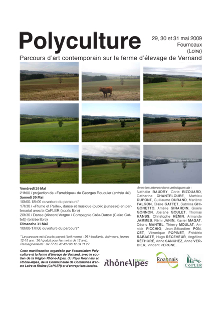 Affiche Polyculture 2009